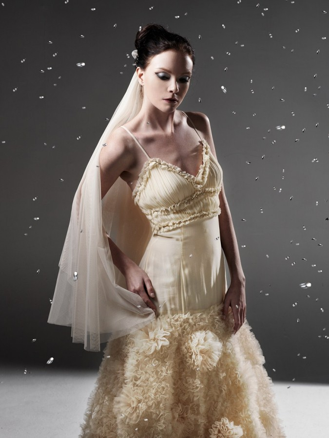 Dramatic wedding gown