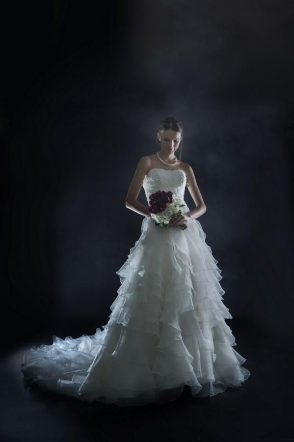 Luxury Ruffle Ball Gown