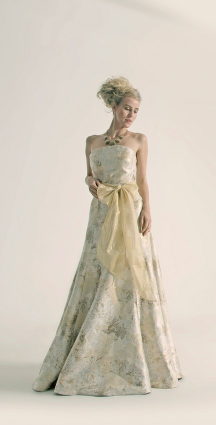 Elegant brocade evening dress