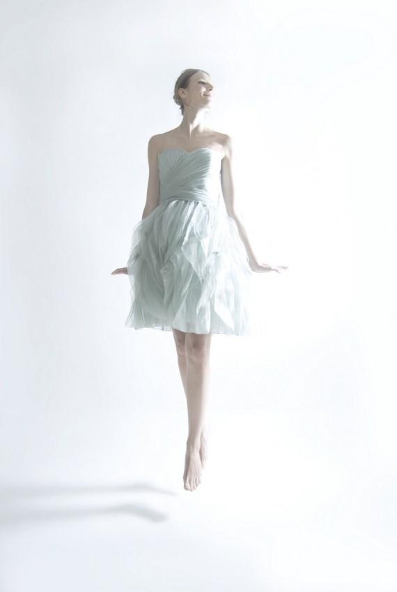 Ruffle silk organza cocktail dress