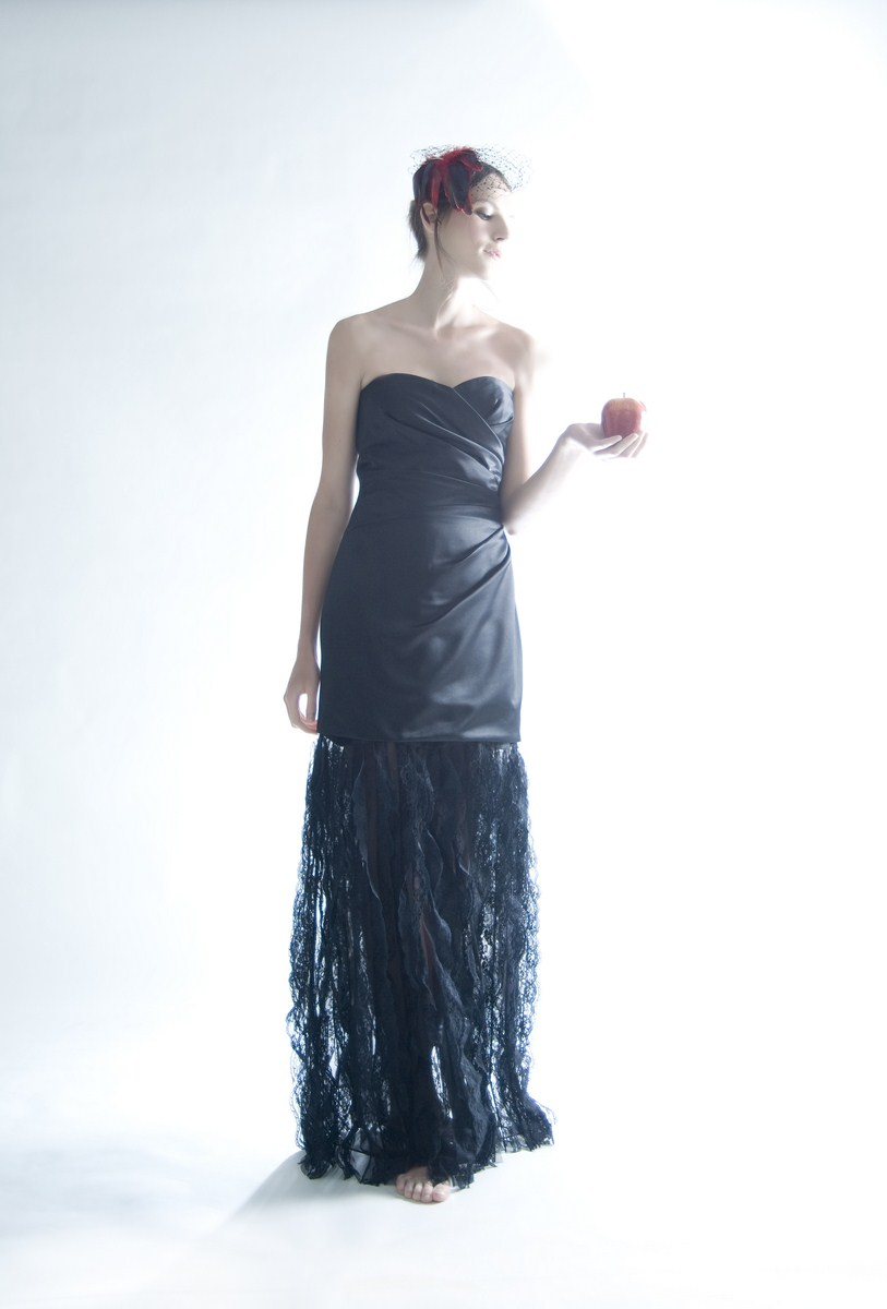 Occasion dress with detachable bottom lace