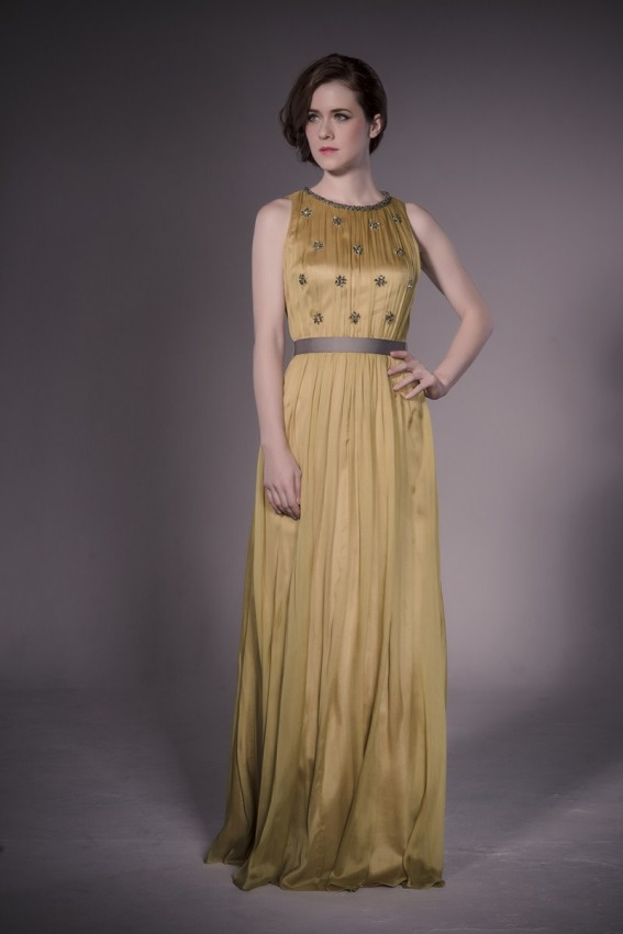 Contemporary silk evening dress