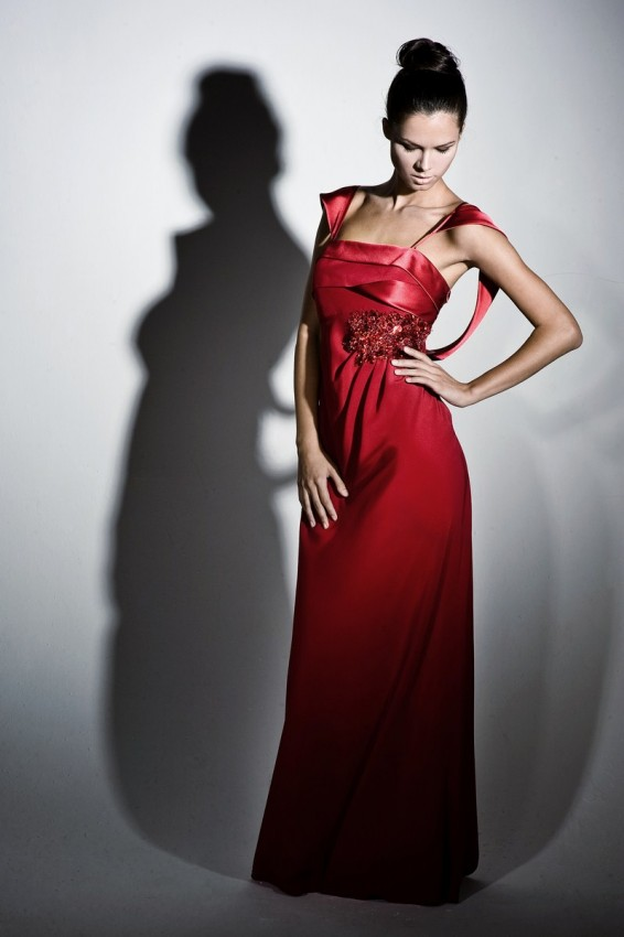 Stylish full-length sheath evening dress