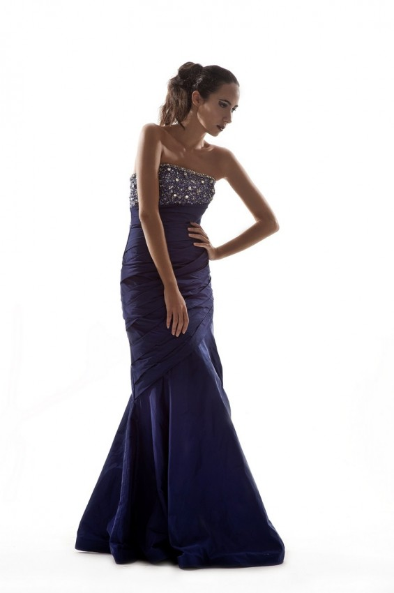 Mermaid gown with dazzling beadings
